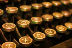 My thoughts on guest blogging represented by typewriter keys