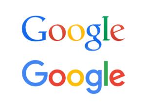Old Google logo, new Google logo