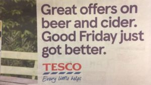 Great Offers on beer and cider. Good Friday just got better - what easter really means
