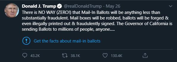 Trump tweet labelled