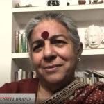 Vandana Shiva and Russell Brand.